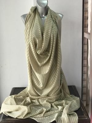 Gold metallic thread striped knitted jersey fabric 150cm wide 2 way stretch bridal clothing Festive season Christmas decotation