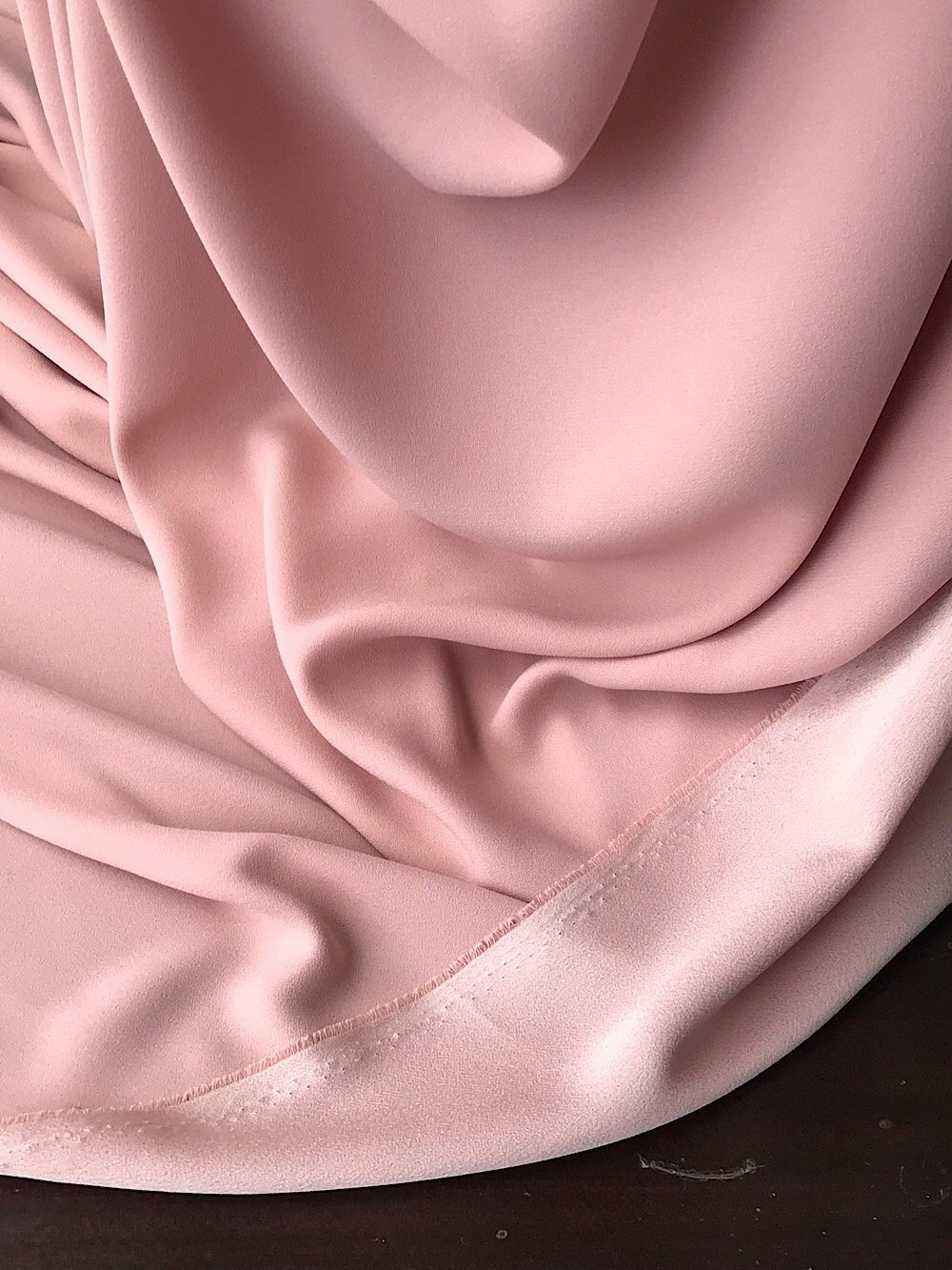 Blush Pink stretch crepe fabric,  2 way stretch pebble crepe textured polyester spandex 150cm 60 inches