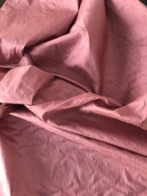 dusky pink dupioni silk fabric