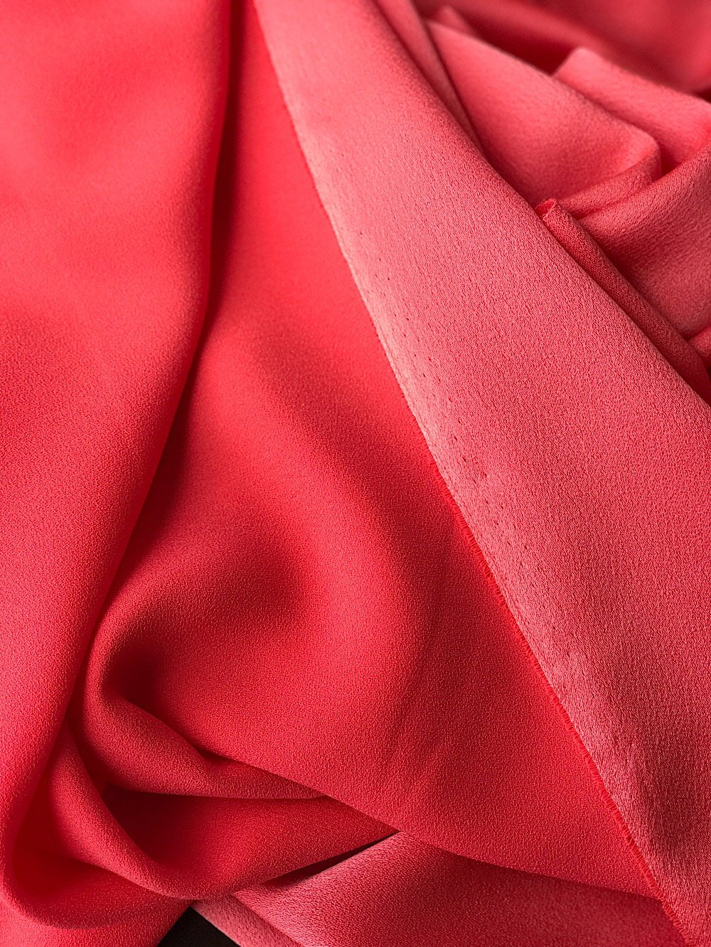 Red Polyester Crepe Fabric
