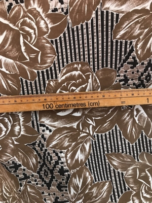 Large floral sun dress fabric 100% cotton Swiss production 140cm wide
