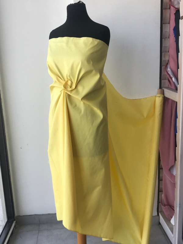 "Banana yellow 100% dupioni silk fabric yardage By the Yard 36.5"" inches wide raw silk Soie Sauvage"