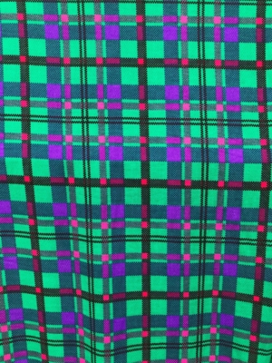 large check wool fabric multi colour green purple pure wool textured soft 150cm wide