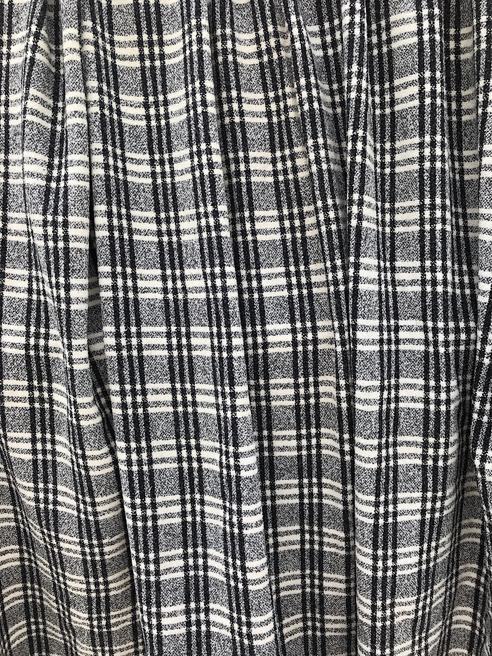 black on white check fabric Tartan pure wool tweed, prince of Wales,  fancy wool coat skirt suit cape stole fabric prince de galles