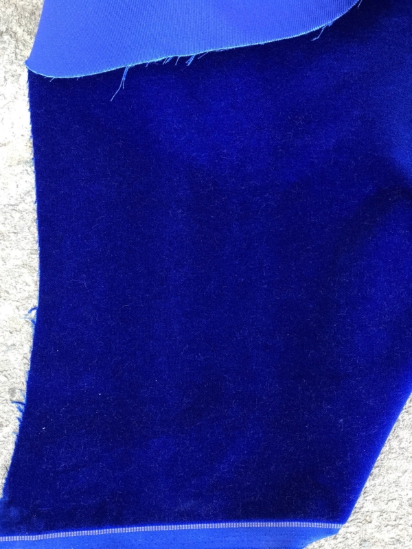 Cobalt blue cotton velvet fabric, premium quality by Niedick 150cm wide velvet coating