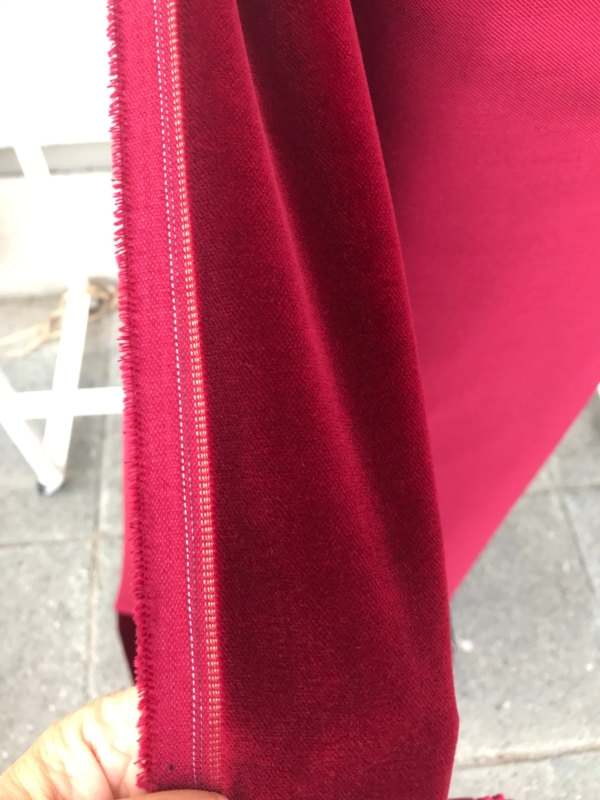 Burgundy Red cotton velvet fabric