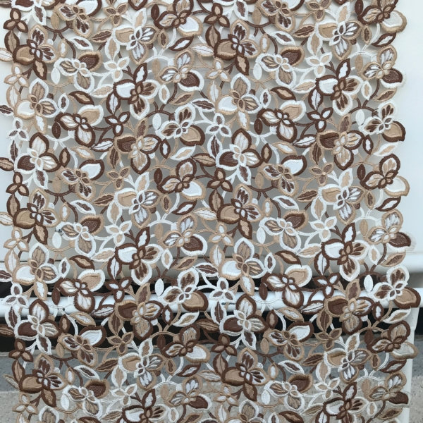 brown beige ivory vintage guipure lace from Marco Lagattolla, mother of bride, bridal