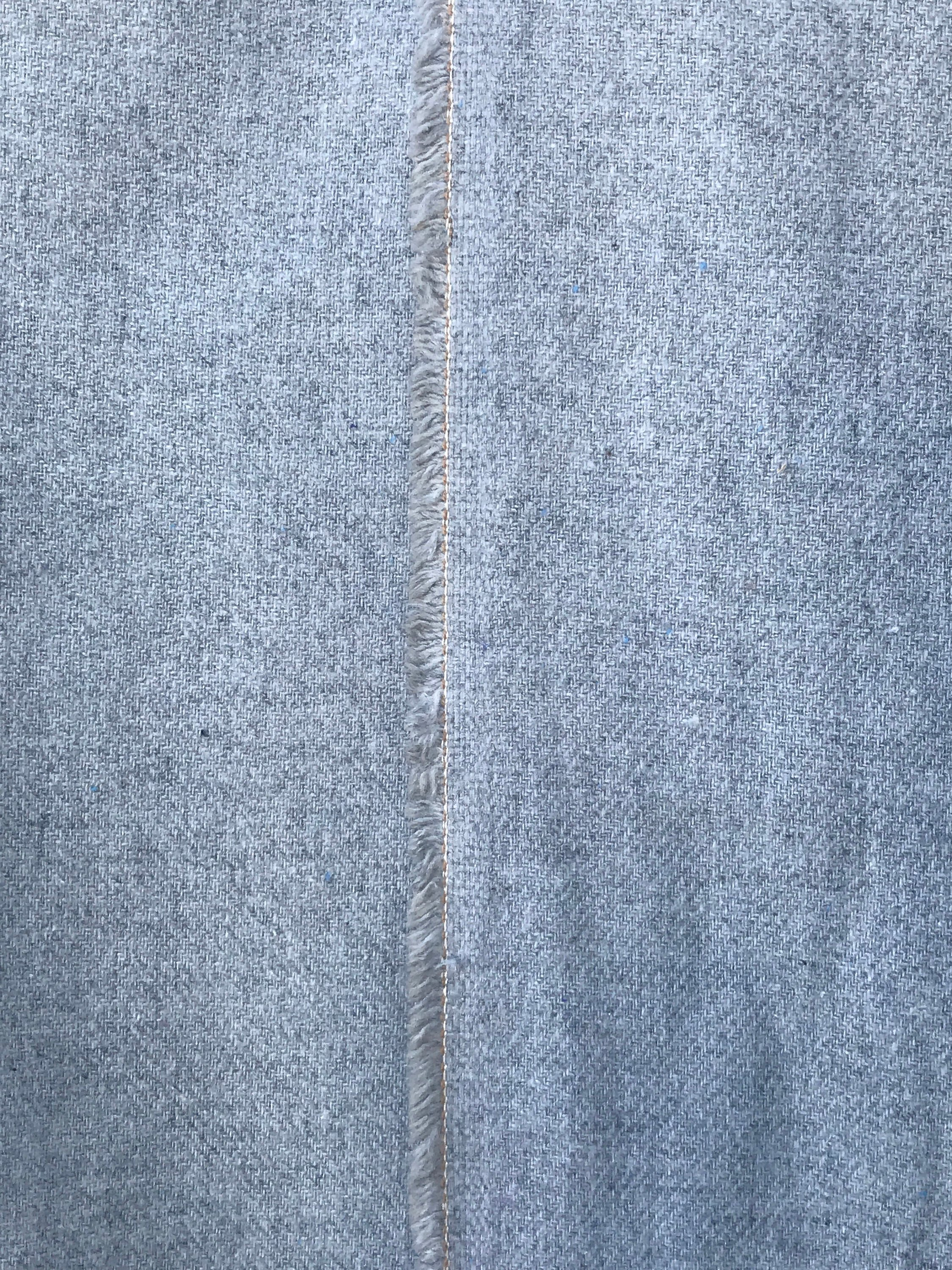 light grey acrylic flannel, felt 150cm 60 inches wide suiting, pants skirt fabric, olive blue on brown