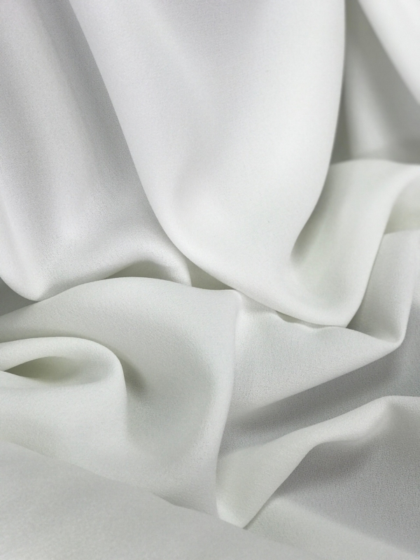 Off white stretch crepe fabric,  2 way stretch pebble crepe textured polyester spandex 150cm 60 inches