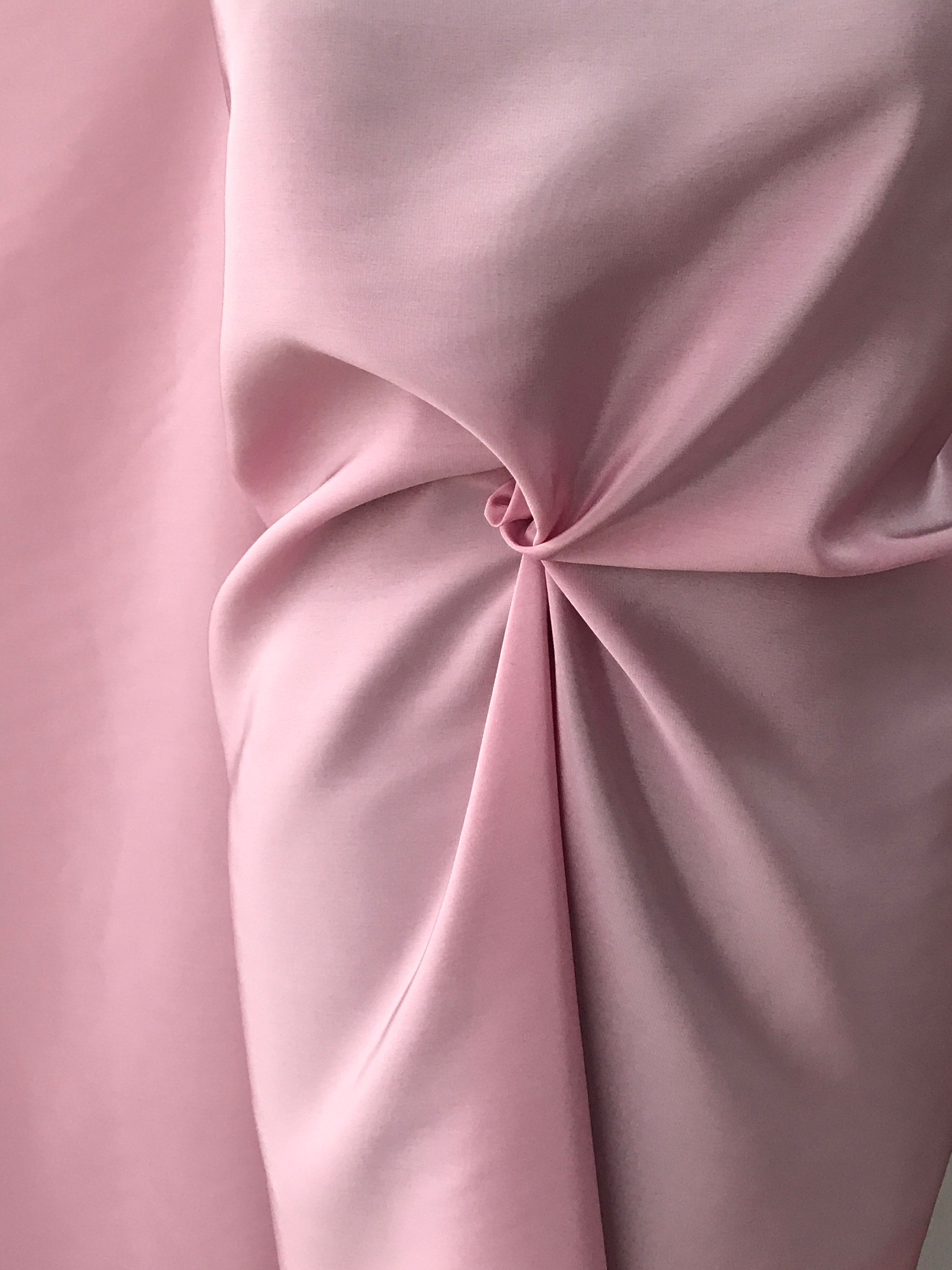 pink silk fabric, crepe de chine pure silk fabric 19 Momme weight Italian production