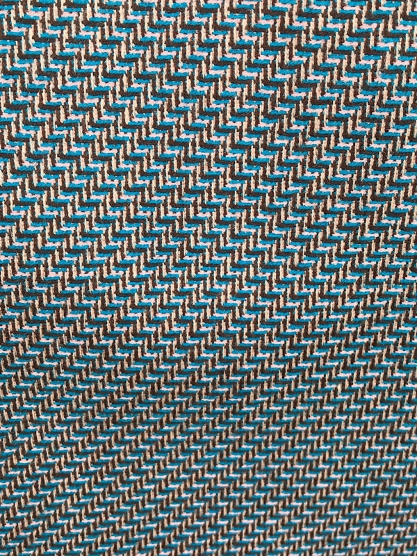 multi colour fine wool suiting fabric, pure wool , fancy weave, teal blur gold mustard