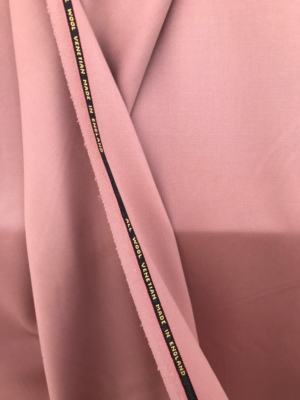 Pink Wool Venetian suiting medium weight suiting fabric 100% wool made in England