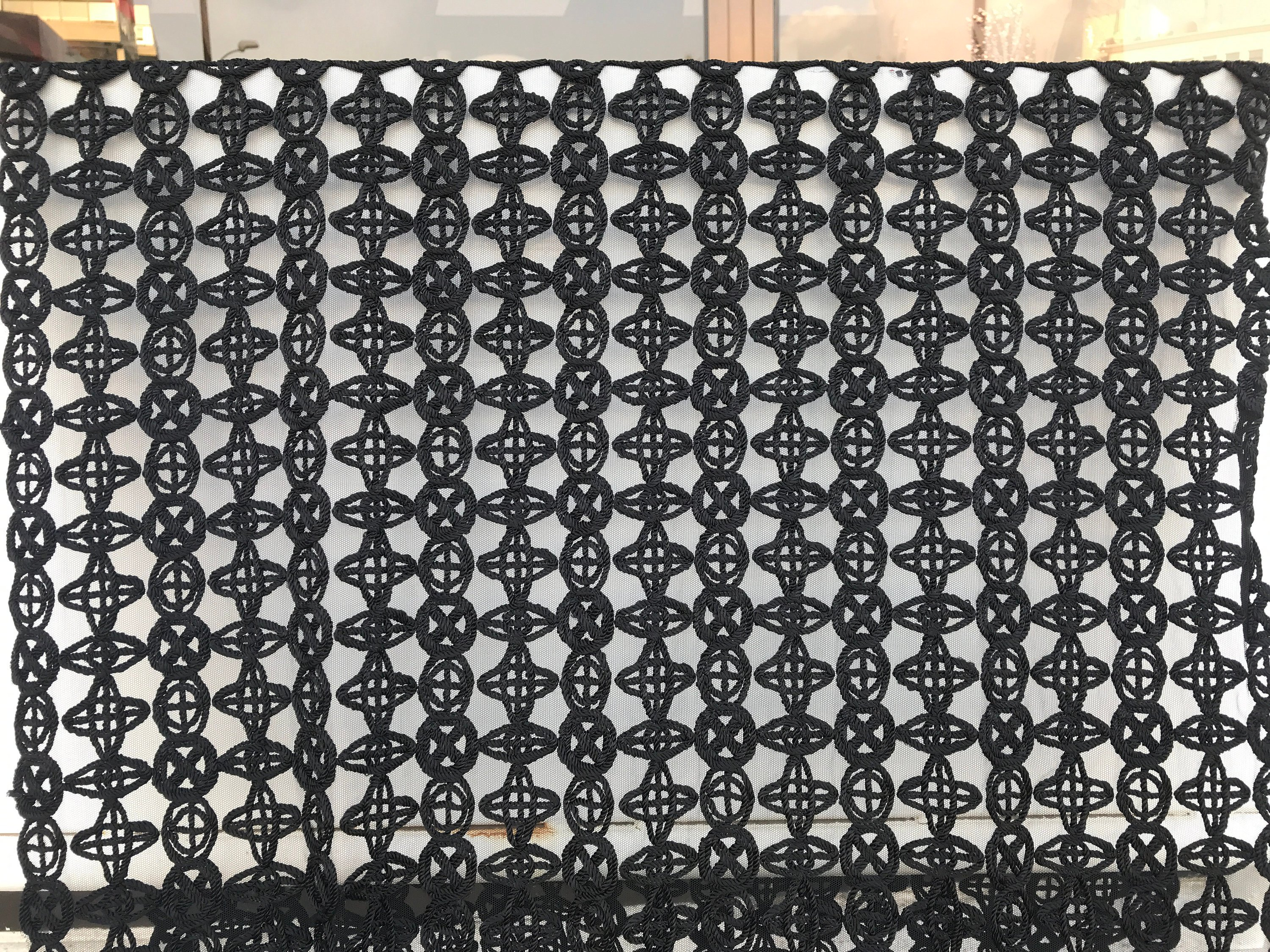 black guipure lace fabric