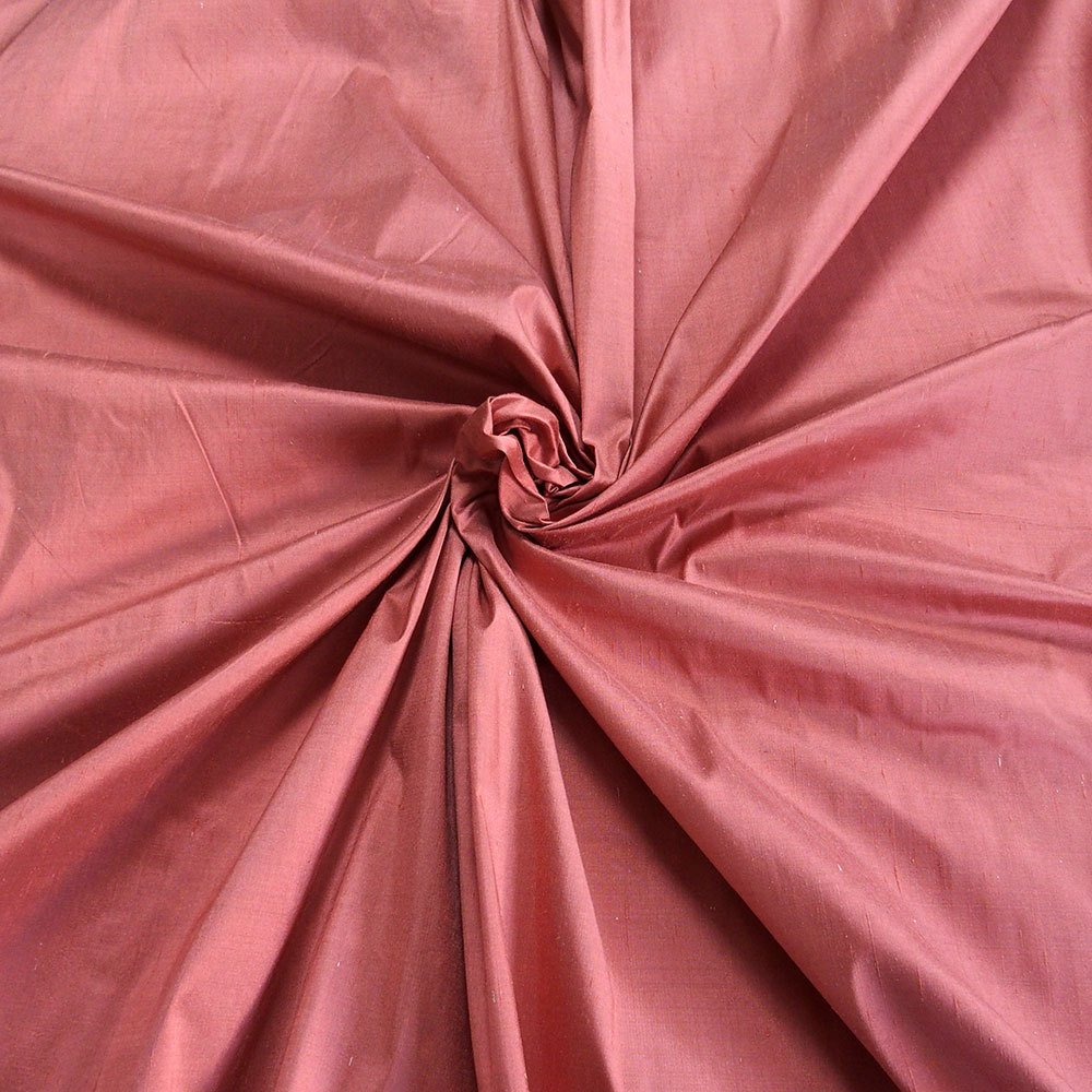 pink Dupioni silk fabric