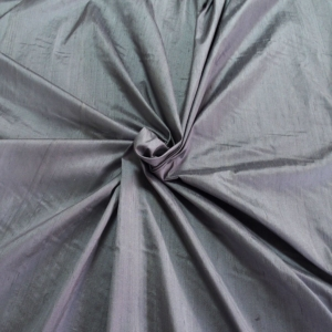 Grey dupioni silk