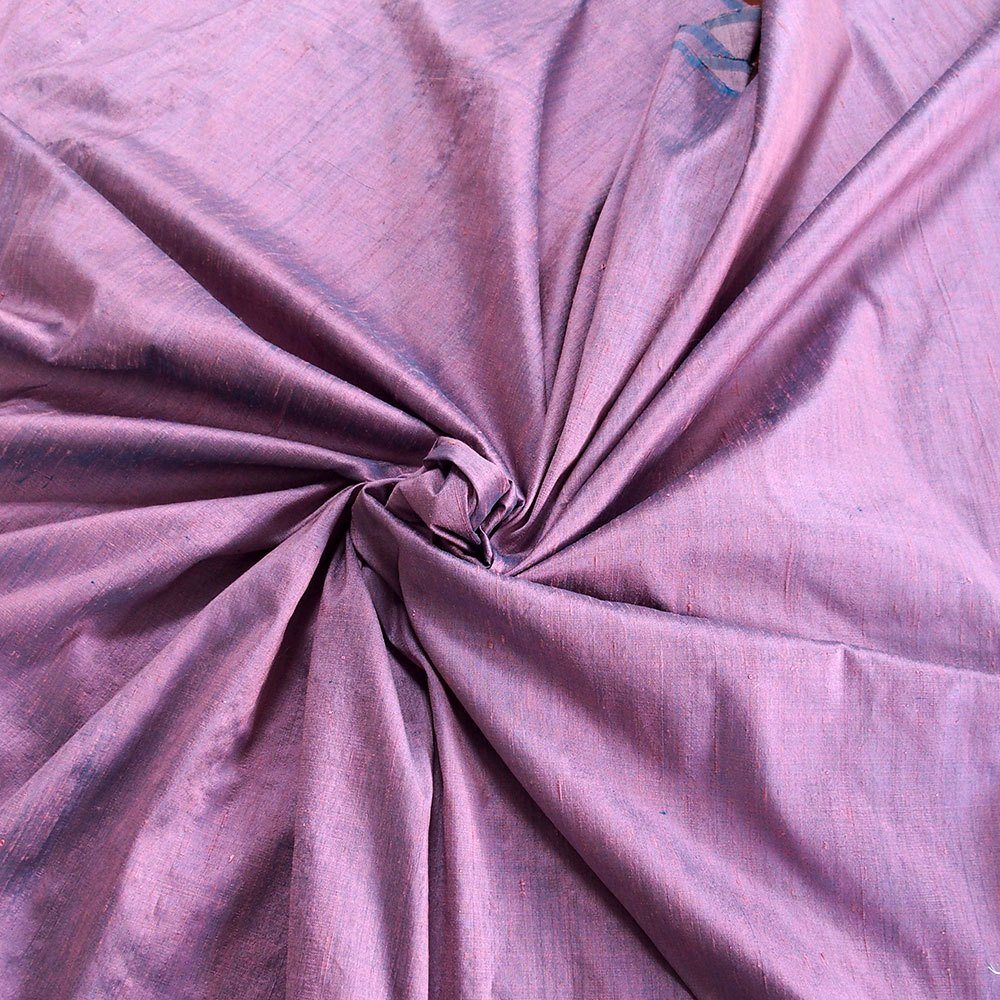 "pink on teal blue 100% dupioni silk fabric yardage By the Yard 120cm 45"" wide raw silk soie sauvage"