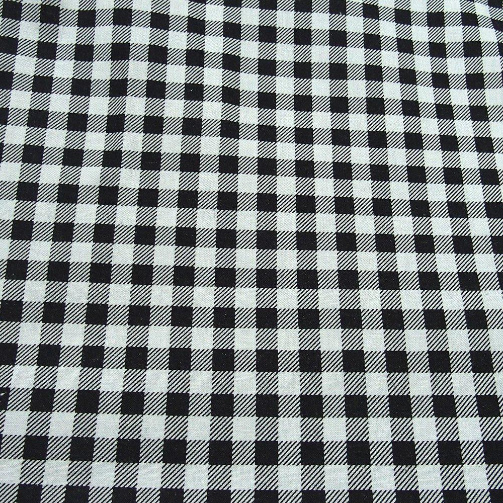 black on white 100% cotton print fabric check pattern gingham medium thick medium stiff print fabric animal print curtain table cloth
