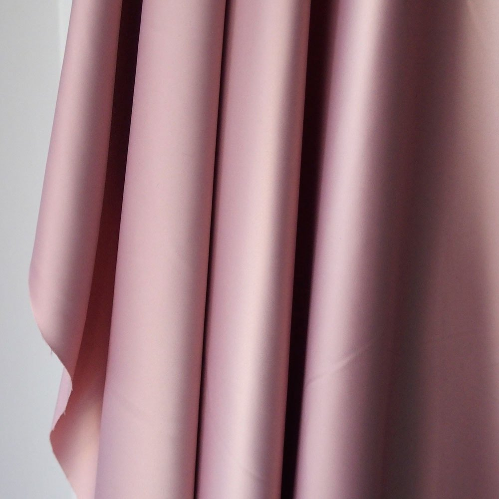 Pink polyester satin fabric, poly spandex heavy Duchess satin,  dull satin, heavy stretch elegant pink bridal under lace 150cm 60 inches