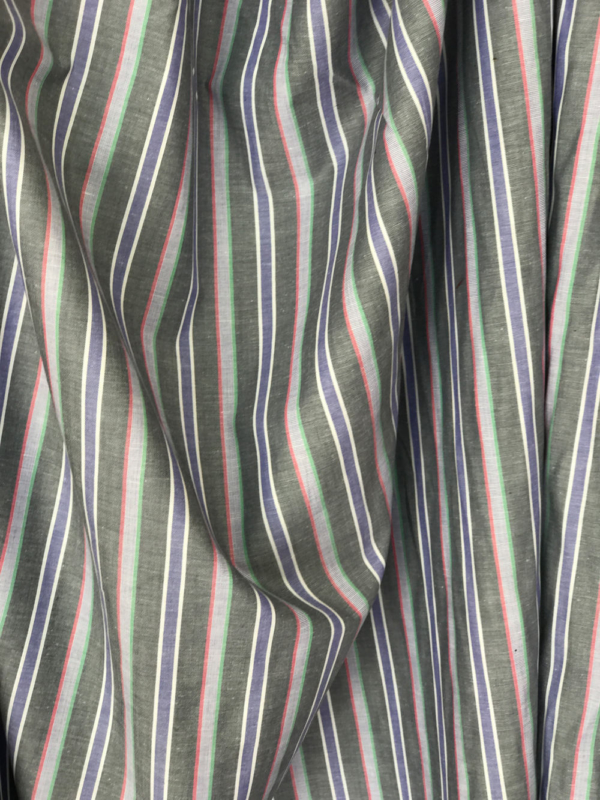 striped cotton shirt fabric