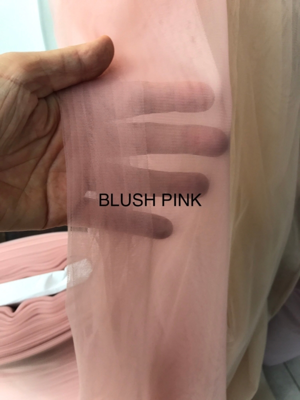 "powder pink blush pink nude very soft Tulle mesh net fabric for skirt frills soft 3m 118"" wide"