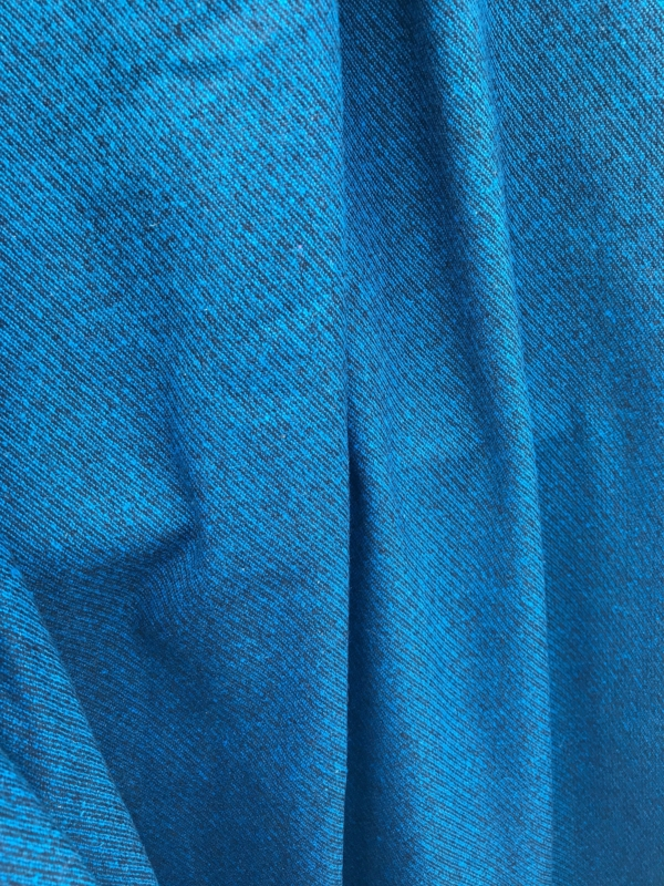 teal blue on black wool mix fabric diagonal stripe pattern