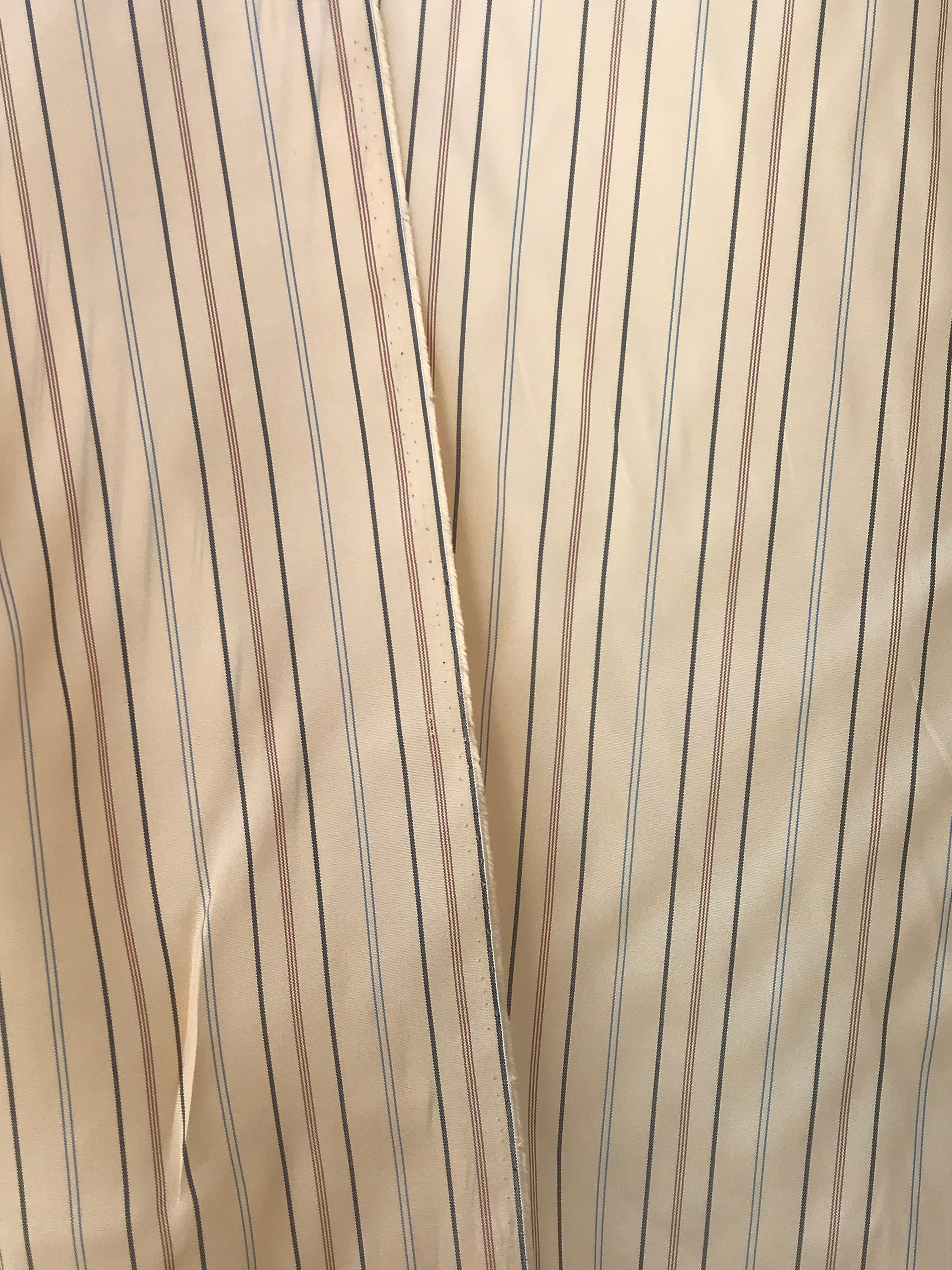 Striped lining fabric, Viscose Acetate, 5 meter lot  European production 150cm 60 inches wide