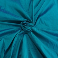 "Teal Blue Green iridescent 100% dupioni silk fabric yardage By the Yard 54"" wide raw silk Soie Sauvage"