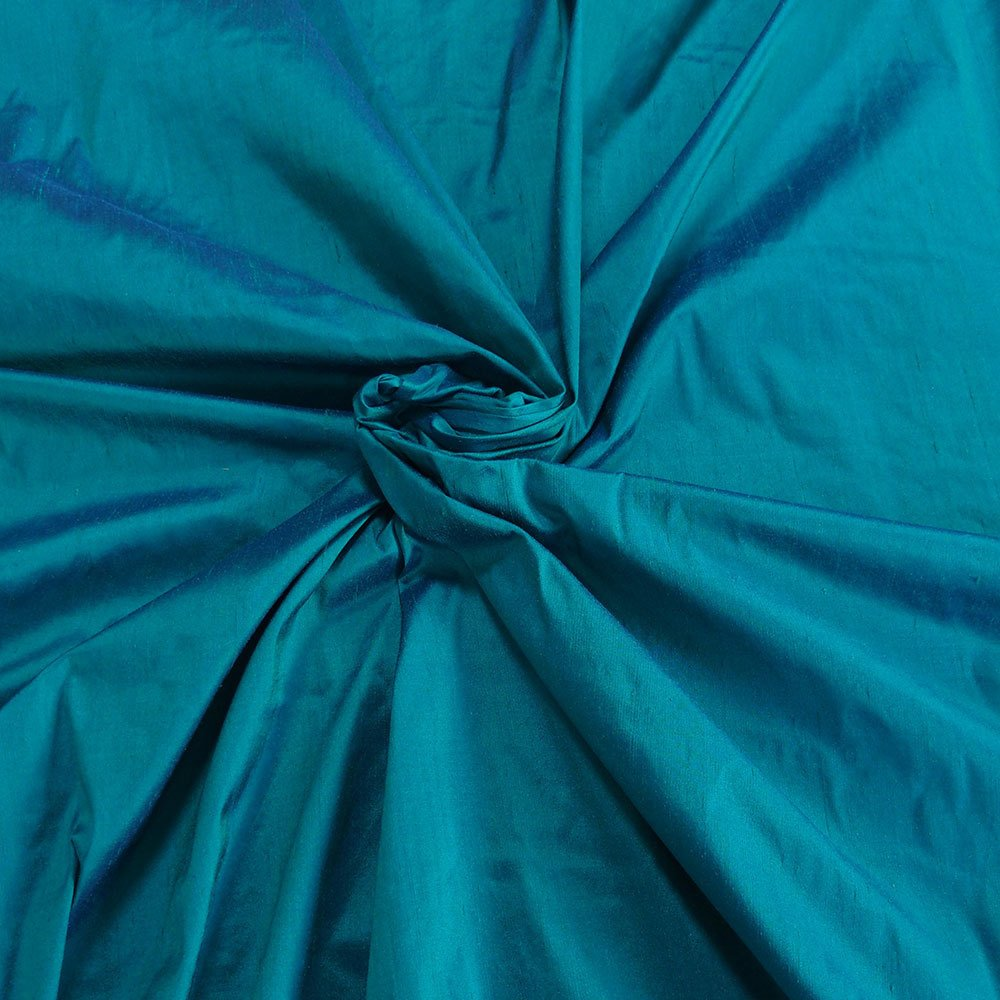 teal blue silk dupioni