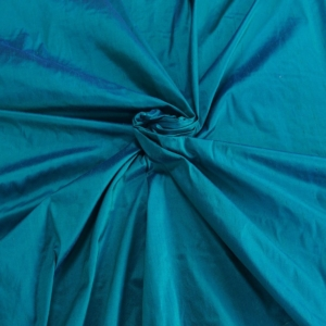 "Teal Blue Green iridescent 100% dupioni silk fabric yardage By the Yard 54"" wide raw silk Soie Sauvage"