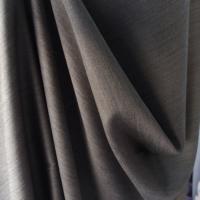 Taupe brown melange wool fabric medium weight wool suiting fabric 100% pure virgin wool coating jacket trouser skirt fabric