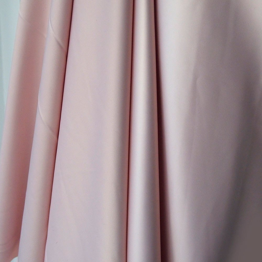 soft pink polyester satin fabric, poly spandex heavy Duchess satin,  de luster dull satin, heavy stretch bridal under lace 150cm 60 inches
