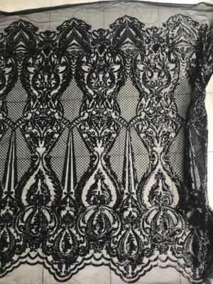 damask sequins lace