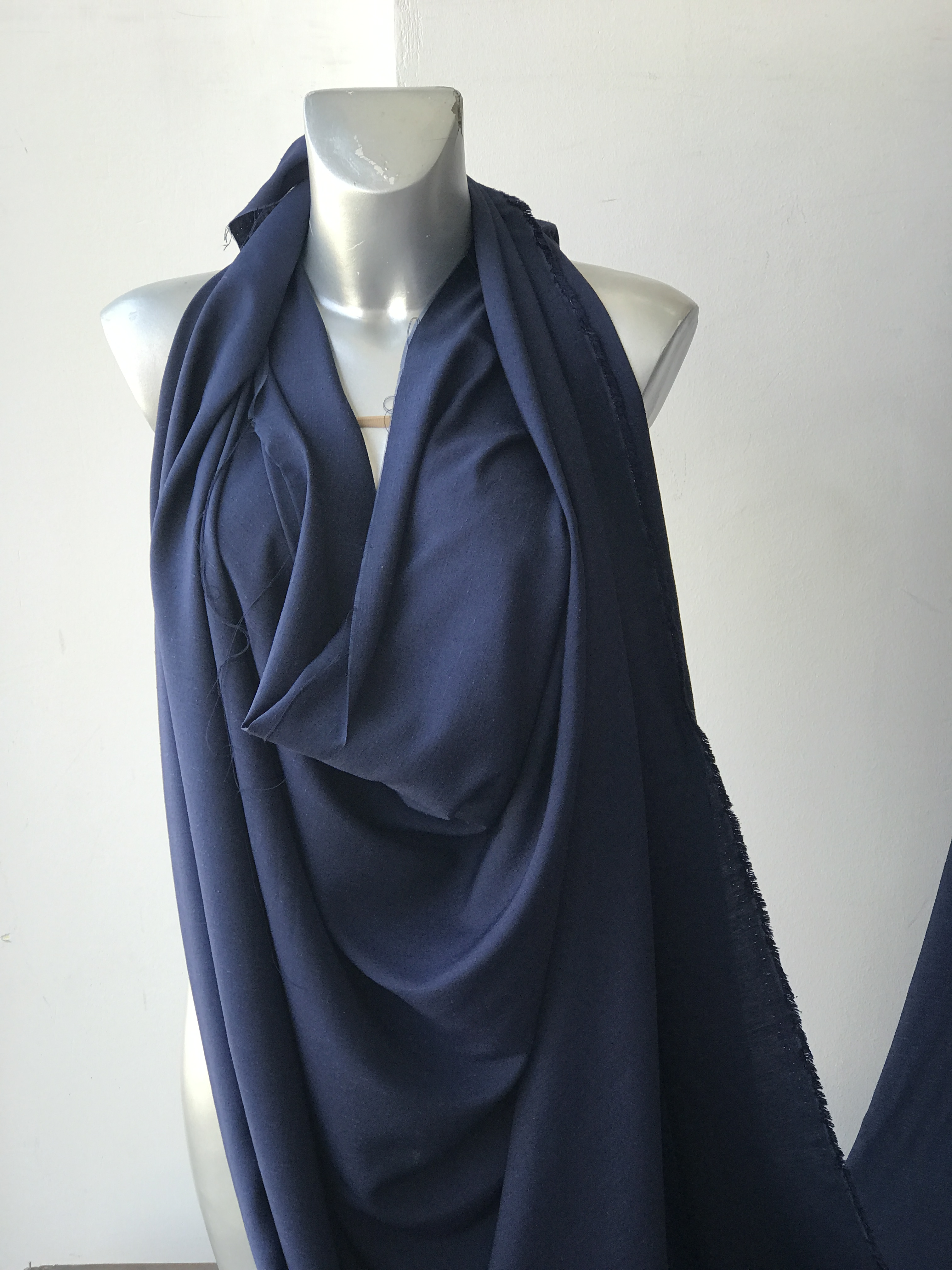 navy blue viscose fabric