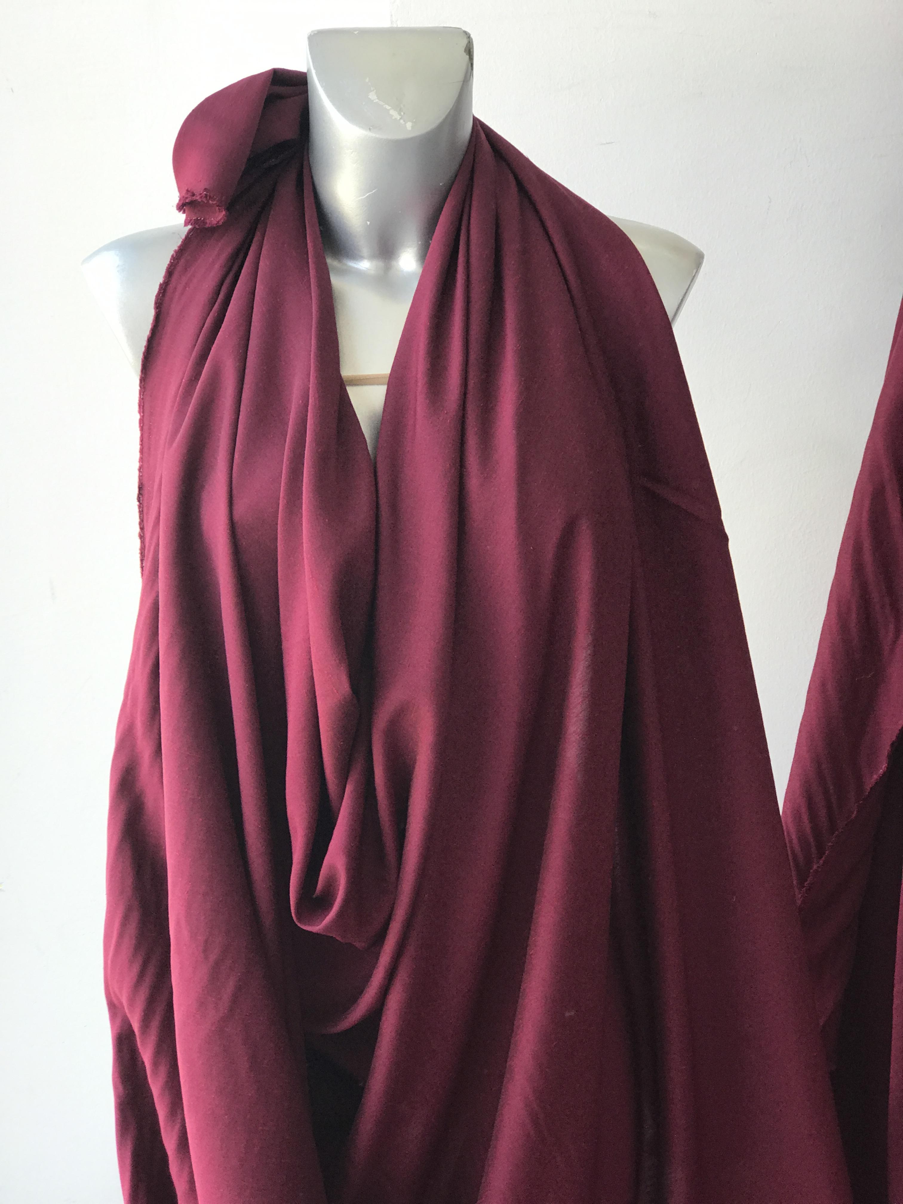 burgundy viscose fabric