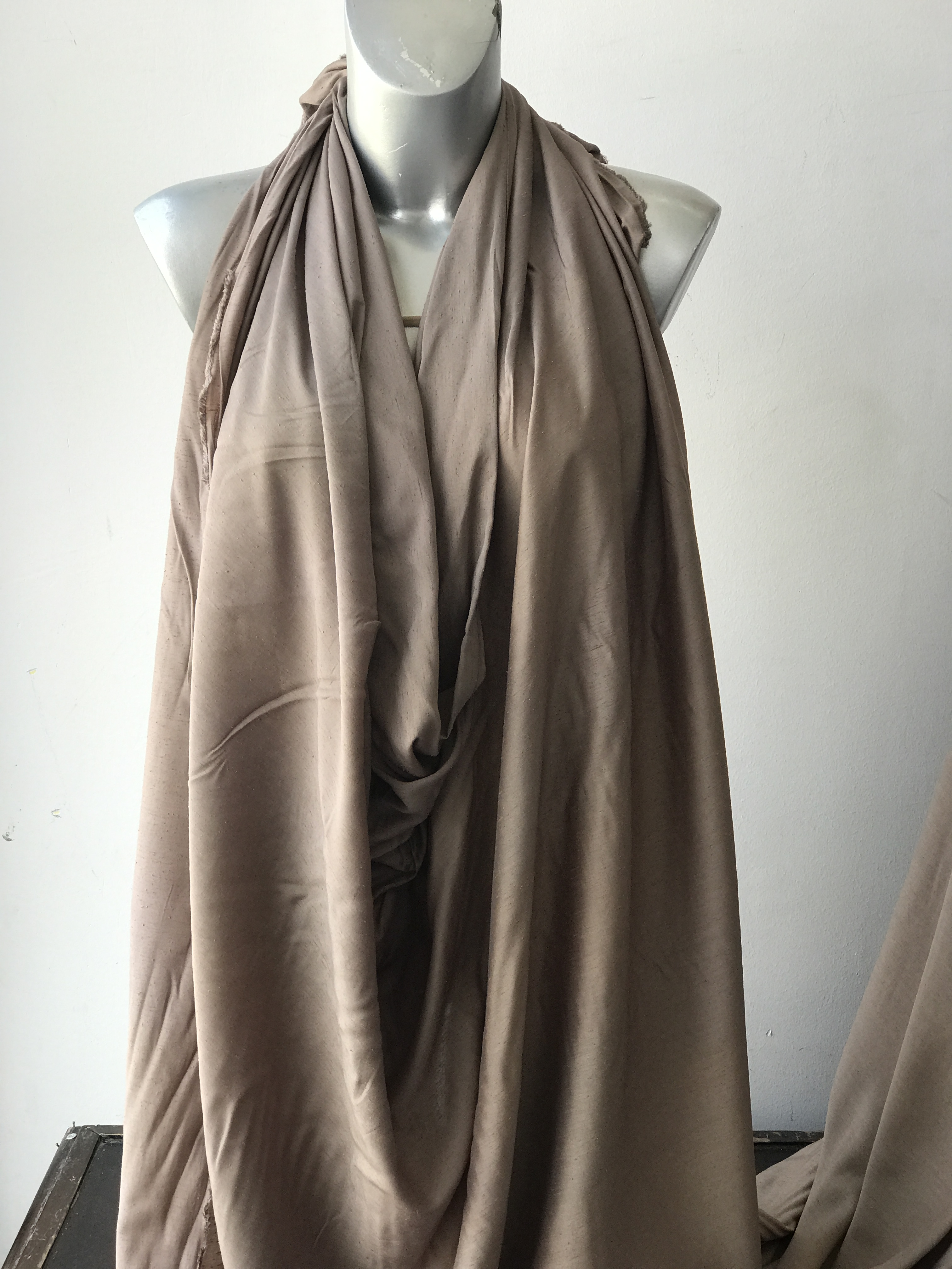 beige viscose fabric