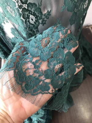 Green French lace