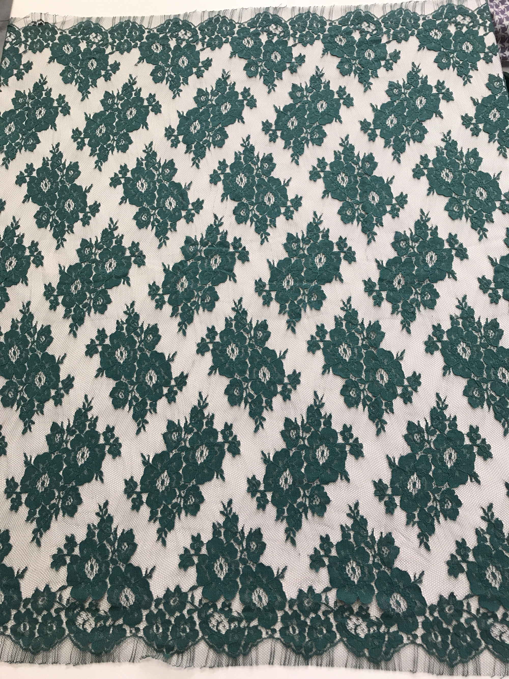 green french lace fabric