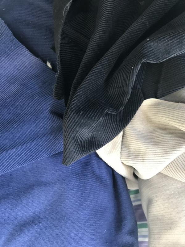 black corduroy fabric