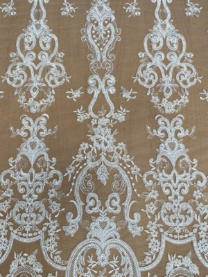 bridal corded lace fabric