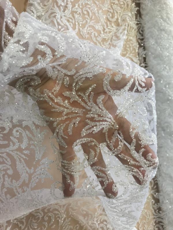 bridal glitter tulle