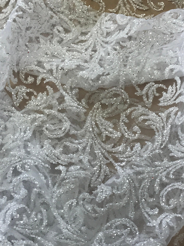 glitter tulle for wedding dress
