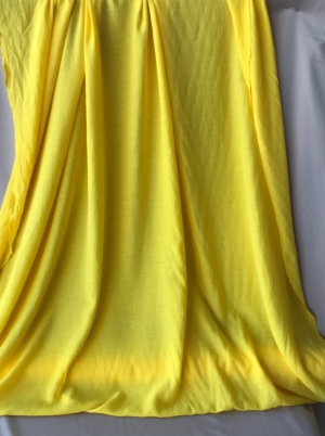 yellow crinkled viscose