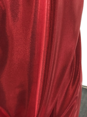 red metallic dot shine lycra