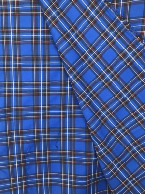 royal blue tartan fabric