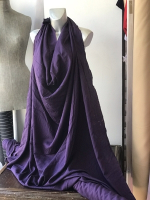 purple viscose fabric