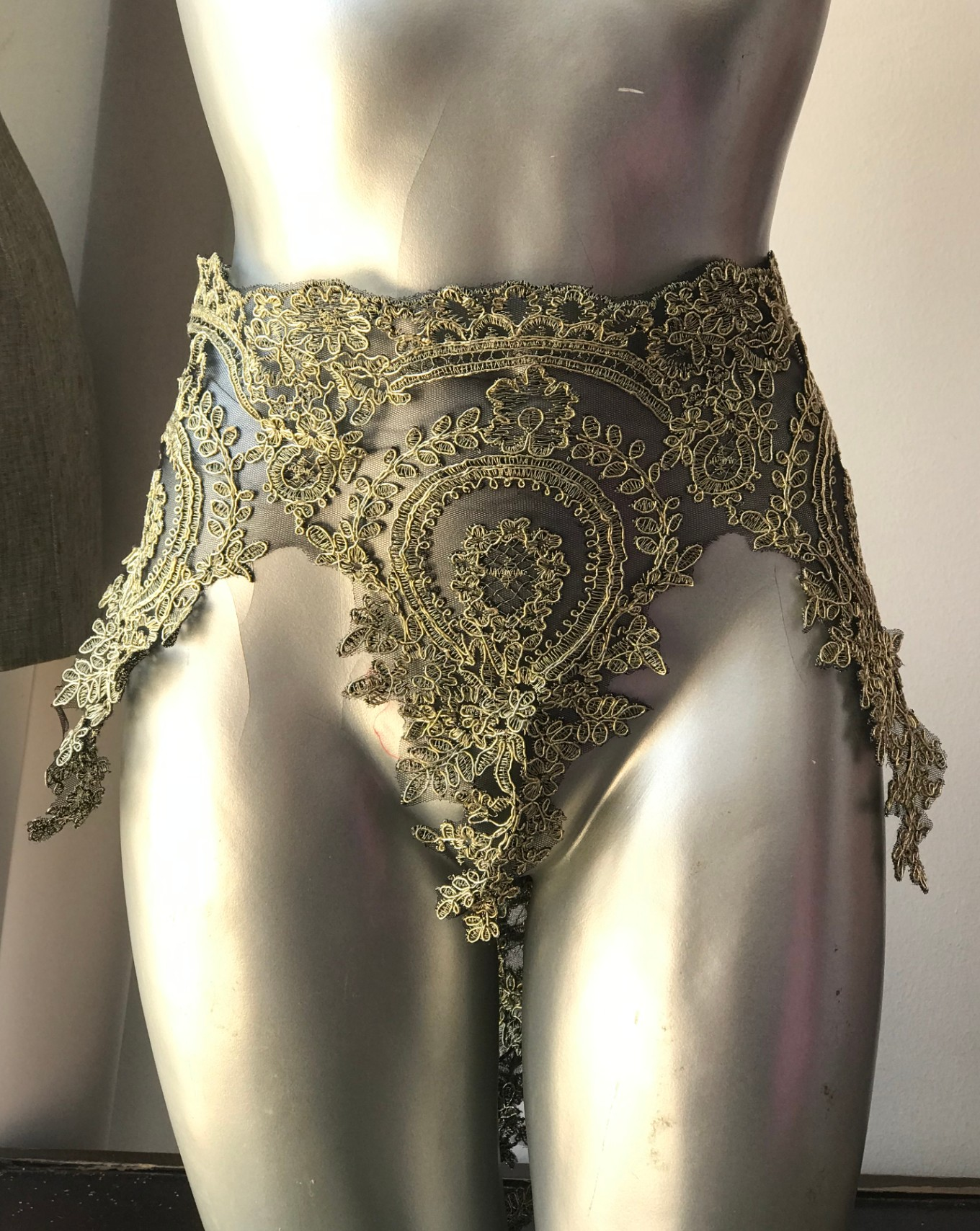 gold black lace