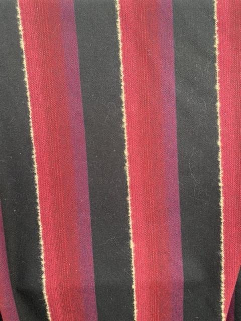 red black stripe winter fabric