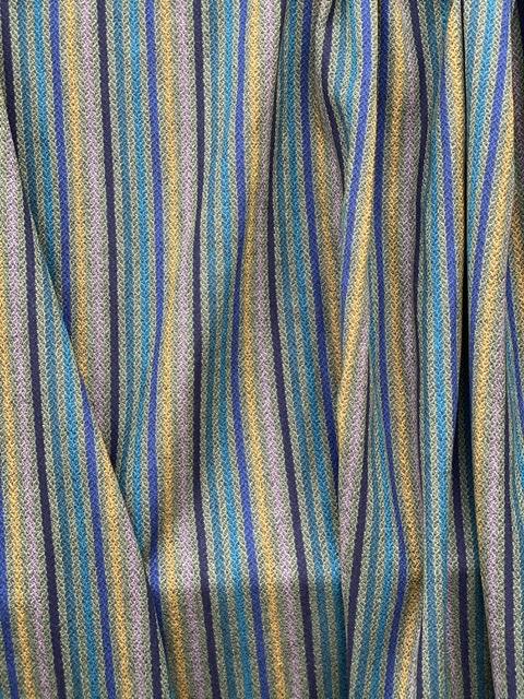 multi color stripe wool fabric