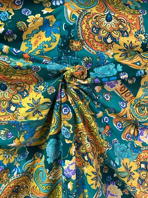 floral stretch fabric