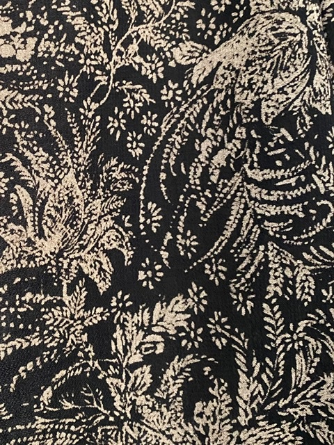 black wool crepe fabric